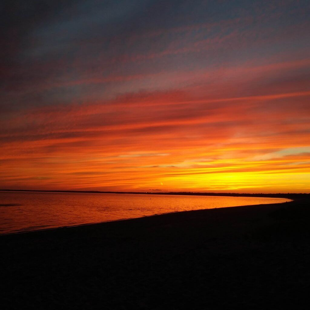 Sunset at Hammonasset Beach