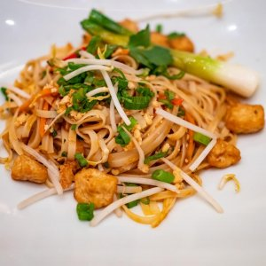 prepared Asian noodle dish